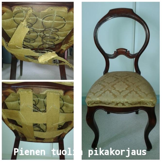 Pienen tuolin pikakorjaus